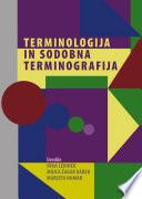 Terminologija in sodobna terminografija