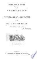 Annual Report of the Secretary of the State Board of Agriculture of the State of Michigan  for the Year
