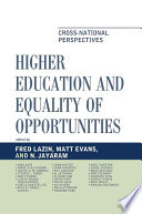 Higher Education and Equality of Opportunity Book PDF