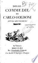 Delle commedie...Carlo Goldoni