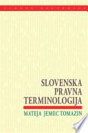 Slovenska pravna terminologija