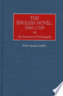 The English Novel  1660 1700