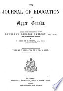 The Journal of Education for Upper Canada
