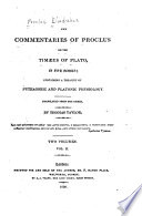 The Commentaries Of Proclus On The Timaeus Of Plato In Five Books