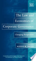 The Law And Economics Of Corporate Governance