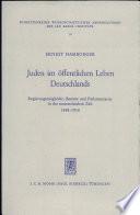 Juden im öffentlichen Leben Deutschlands