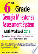 6th Grade Georgia Milestones Assessment System Math Workbook 2018