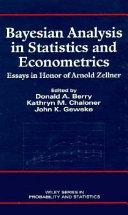 Bayesian analysis in statistics and econometrics