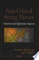 Non Critical String Theory book