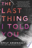 The Last Thing I Told You Book PDF