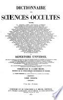 Dictionnaire des Sciences Occultes  etc