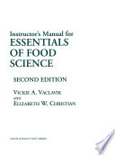 Instructor   s Manual for Essentials of Food Science