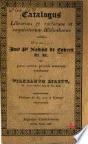Verzeichniss der B  cher der ber  hmten naturhistorischen Bibliothek des weiland Herrn J  P  Ritters v  Cobres