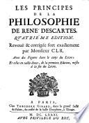 """""""Les"""" principes de la philosophie de Rene Descartes"""