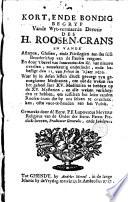 Kort ende bondig begryp vande wyt-vermaerde devotie des H. roosen-crans