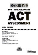 Barron s How to Prepare for the ACT Assessment with CDROM