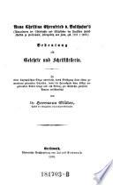 Anna Christina Ehrenfried von Balthasar's Bedeutung als Gelehrte und Schriftstellerin