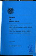 Names of Applicants and Inventors