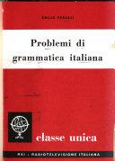 Problemi di grammatica italiana
