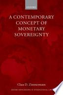 A Contemporary Concept of Monetary Sovereignty