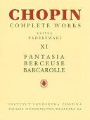 Fantasia  Berceuse  Barcarolle