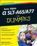Sony Alpha SLT A65   A77 For Dummies