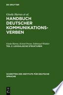Handbuch deutscher Kommunikationsverben