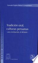 Tradición oral, culturas peruanas
