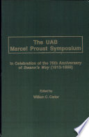 The UAB Marcel Proust Symposium