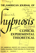 American Journal of Clinical Hypnosis Book PDF