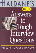 Haldane s Best Answers to Tough Interview Questions
