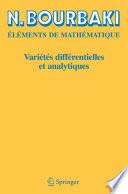 illustration du livre Variétés différentielles et analytiques