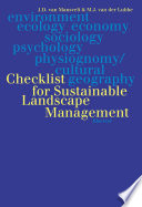 Checklist For Sustainable Landscape Management book
