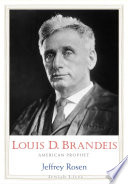 Book Louis D  Brandeis