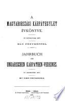 Jahrbuch des Ungarischen Karpathen-Vereins
