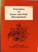 Annual Report Of The Colorado Game And Fish Department book
