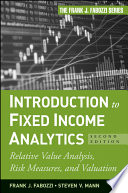 Introduction To Fixed Income Analytics book