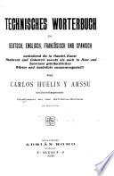 Technisches W  rterbuch in Deutsch  Englisch  Franz  sisch und Spanisch