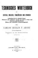 download ebook technisches wörterbuch in deutsch, englisch, französisch und spanisch pdf epub