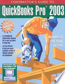Contractor s Guide to QuickBooks Pro 2003