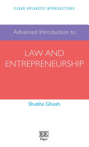 Advanced Introduction to Law and Entrepreneurship Book