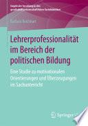 Lehrerprofessionalität im Bereich der politischen Bildung