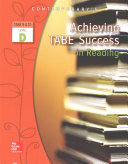 Achieving TABE Success In Reading  Level D Workbook