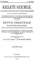 Uralic and Altaic Series