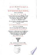 Astronomia of sterrekunde,
