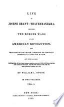 Life of Joseph Brant Thayendanegea