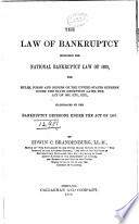 The Law of Bankruptcy