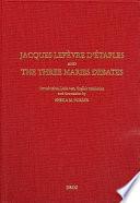 Jacques Lef  vre D Etaples and the Three Maries Debates