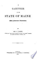 A Gazetteer of the State of Maine Pdf/ePub eBook