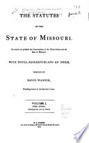 The Statutes of the State of Missouri